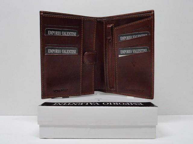 8ea99e550216 Férfi bőr pénztárca + irattartó: konyakbarna (Emporio Valentini)