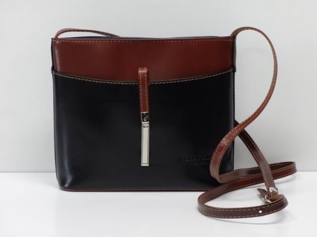 a0539262b879 Női bőr táska, válltáska: fekete-barna (MaxModa) - Csilla Bőrdíszmű ...