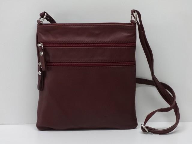 61843e477647 Női bőr táska, válltáska: bordó - Csilla Bőrdíszmű webáruház