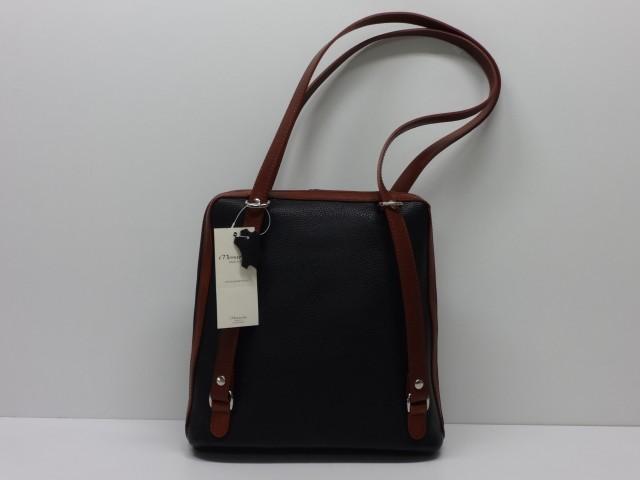 Bőr hátitáska  fekete-barna (Monarchy) - Csilla Bőrdíszmű webáruház 3b6dc1d4db