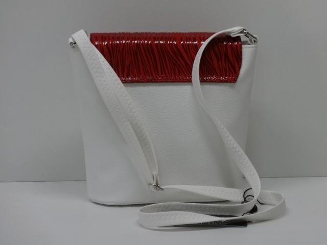 010ae9834c62 Női táska, válltáska: fehér-piros (Diva collection) - Csilla ...