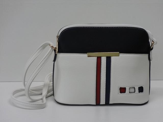 0f73f4033250 Női táska, válltáska: fehér-fekete-piros-sötétkék (Run-Fa) - Csilla ...