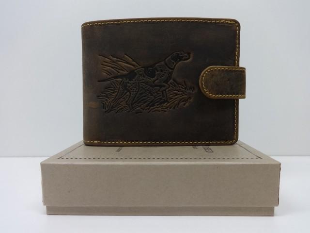 95d85bcd7221 Férfi bőr pénztárca: barna (Green Deed) - minőségi pénztárca, öv és ...