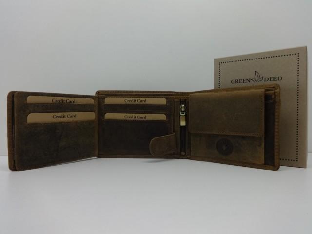 c204652cbb23 Férfi bőr pénztárca: barna (Green Deed) - Csilla Bőrdíszmű webáruház