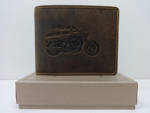 4710acc3bb96 Férfi bőr pénztárca: motor mintával - barna (Green Deed) - Csilla ...