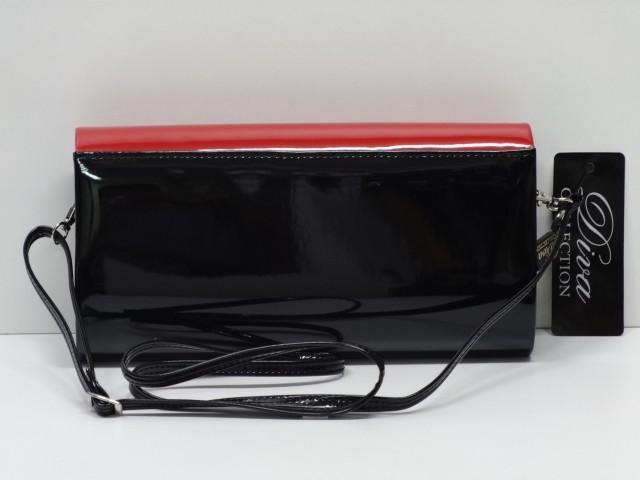 Borítéktáska  fekete-piros (Diva collection) - 1074630 - Csilla ... 13536bce77