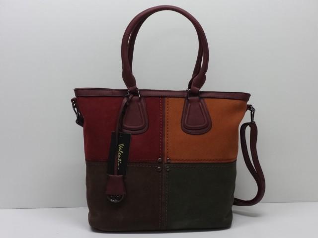 ed88e3d1b492 Női táska, kézi és válltáska: bordó-konyakbarna-sötétbarna-sötétzöld  (Valentina)