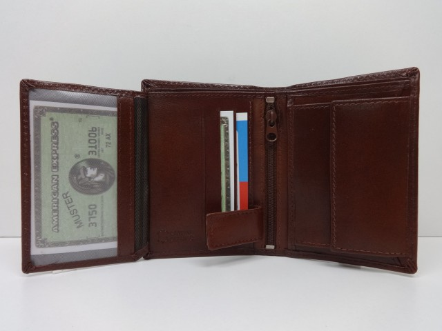 6f9b1d986a8b Férfi bőr pénztárca + irattartó: konyakbarna (Ramsey London ...