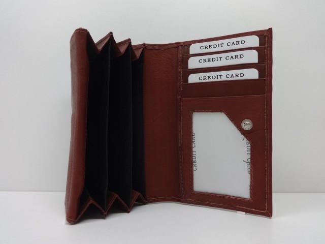 1e5f0823d813 Női bőr pénztárca: barna (American Pride) - Csilla Bőrdíszmű webáruház