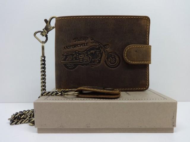 480a4bdfde Férfi pénztárca: motor mintával - barna (Green Deed) - 1086442 ...