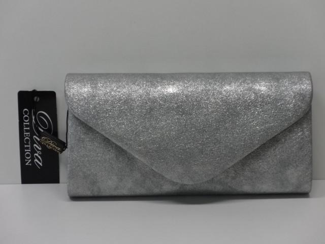 Borítéktáska  ezüst (Diva collection) - Csilla Bőrdíszmű webáruház b4f0eb2e50