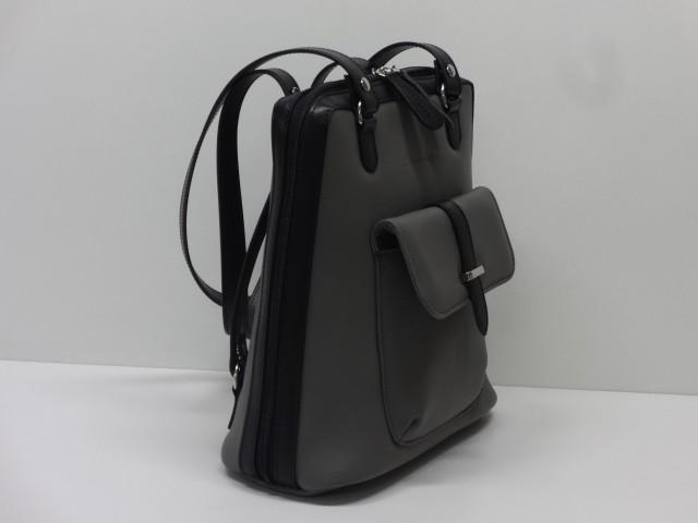 Bőr hátitáska  szürke-fekete (Monarchy) - Csilla Bőrdíszmű webáruház 63552b2453