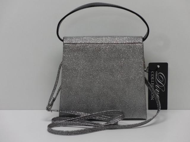 Alkalmi táska  ezüst-fekete (Diva collection) - Csilla Bőrdíszmű ... 76730bfc58