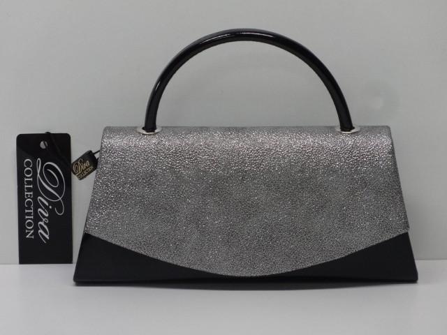Alkalmi táska  fekete-sötétezüst (Diva collection) - Csilla ... 7d4257f5c2