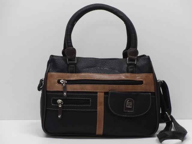 dfc87ace02d8 Női táska, kézi és válltáska: fekete-konyakbarna-sötétbarna (Laurence)