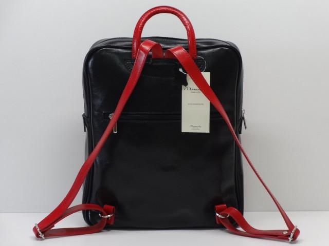 Bőr hátizsák  fekete-piros (Monarchy) - Csilla Bőrdíszmű webáruház 798c73f2a8