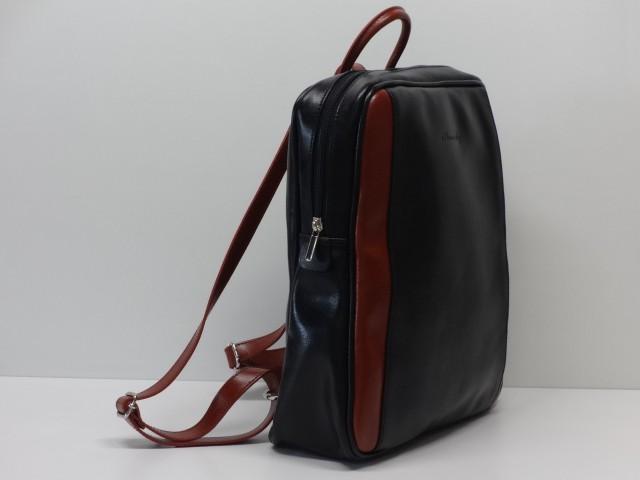 Bőr hátizsák  fekete-barna (Monarchy) - Csilla Bőrdíszmű webáruház afa04eb33b
