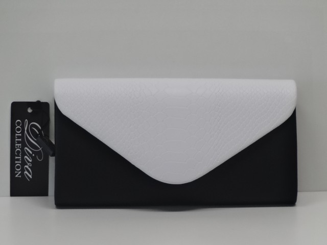 2415da4f8d0a Borítéktáska: fekete-fehér (Diva collection). Diva collection|Női táska »  ...