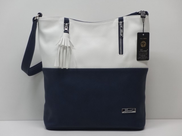 95c3244a52ca Női táska, kézi és válltáska: sötétkék-fehér (Karen) - Csilla ...