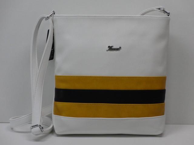 759a6267ffc2 Női táska, válltáska: fehér-sárga-fekete (Karen) - Csilla Bőrdíszmű ...