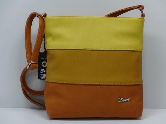 45ca8d94a48e Női táska, válltáska: konyakbarna-mustársárga-sárga (Karen) - Csilla ...
