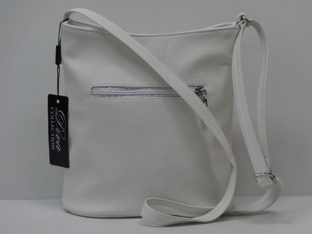 9152aee391f6 Női táska, válltáska: fehér (Diva collection) - Csilla Bőrdíszmű ...