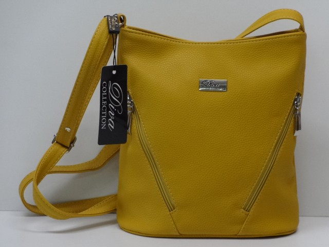 62c0bc15ff Női táska, válltáska: mustársárga (Diva collection) - Csilla ...