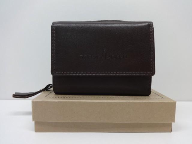 4b4a204ee47b Női bőr pénztárca: sötét barna (Green Deed) - Csilla Bőrdíszmű webáruház