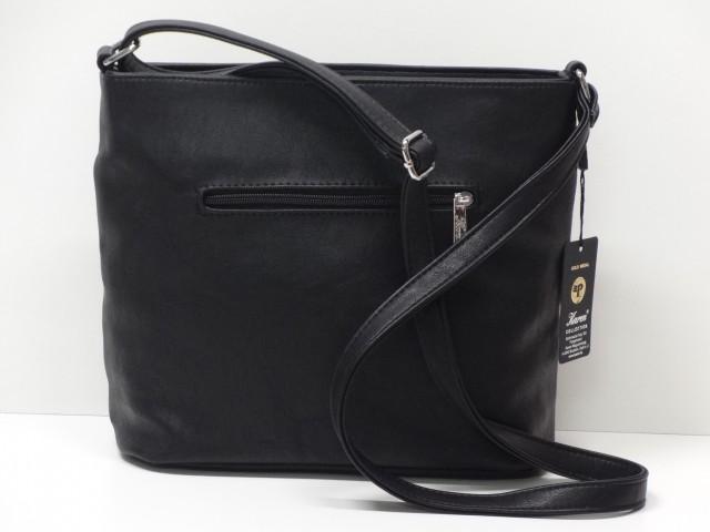 Női táska, válltáska: fekete sötét szürke (Karen)