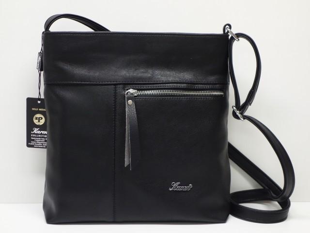 Női táska, válltáska: fekete bordó (Karen) Csilla